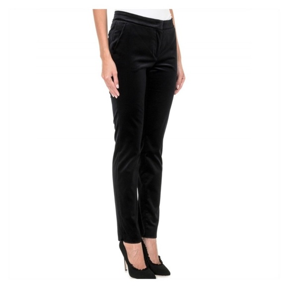 MaxMara Pants - MaxMara Velvet Slim Leg Trousers
